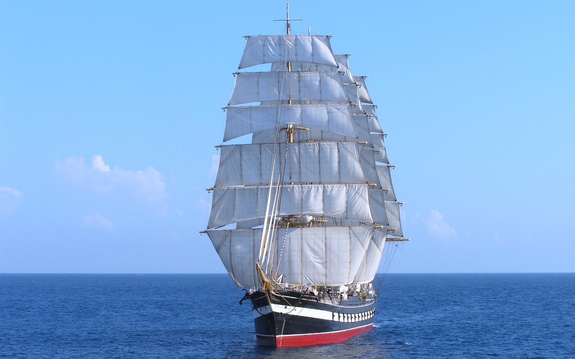 Картинки парусные корабли в море, открытки