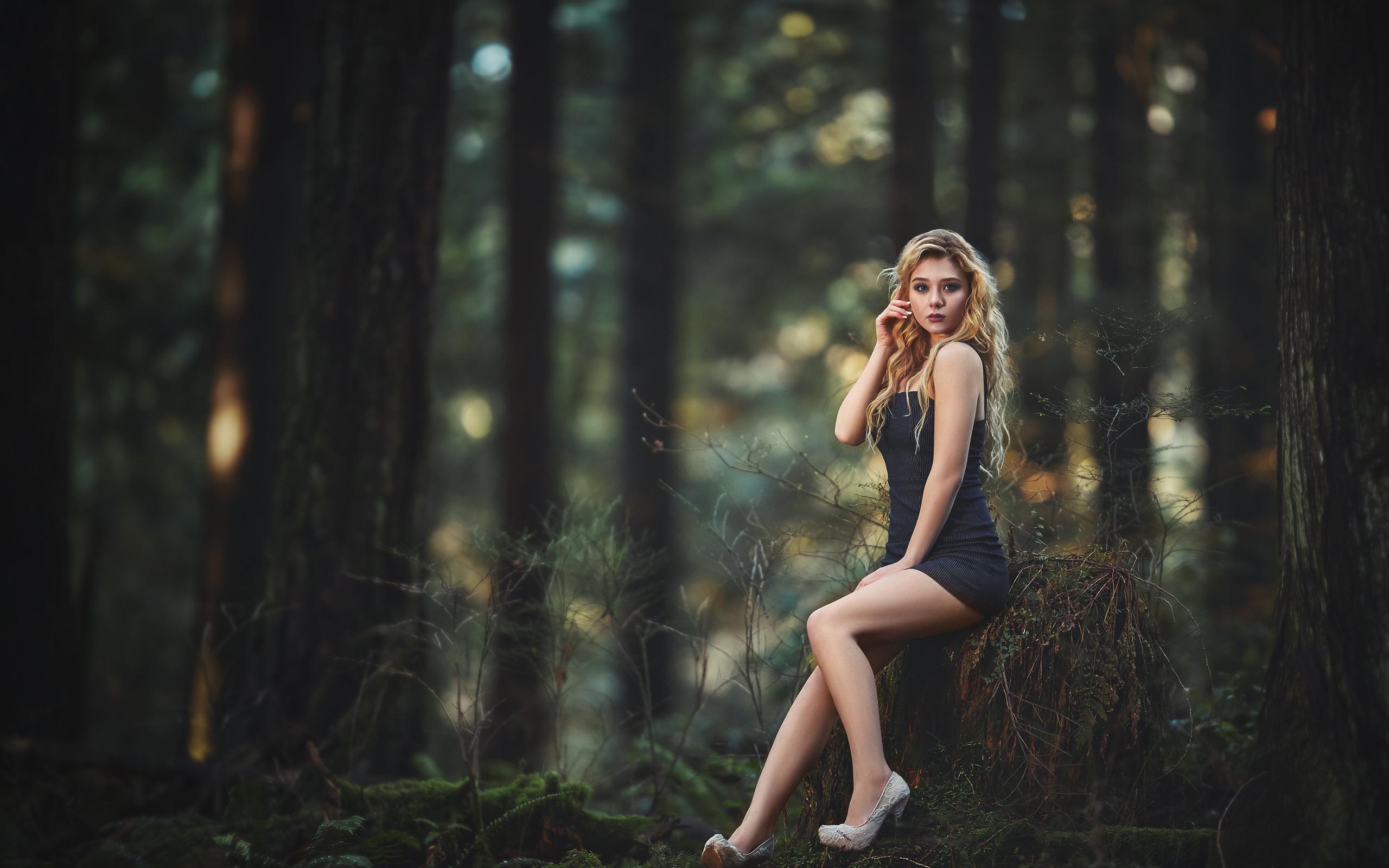 фото красоток в лесу - 2