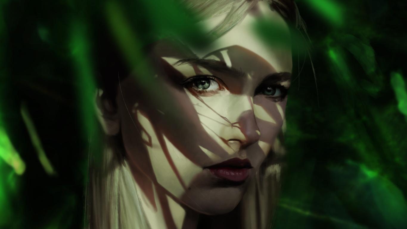 искусство, лицо, тень
