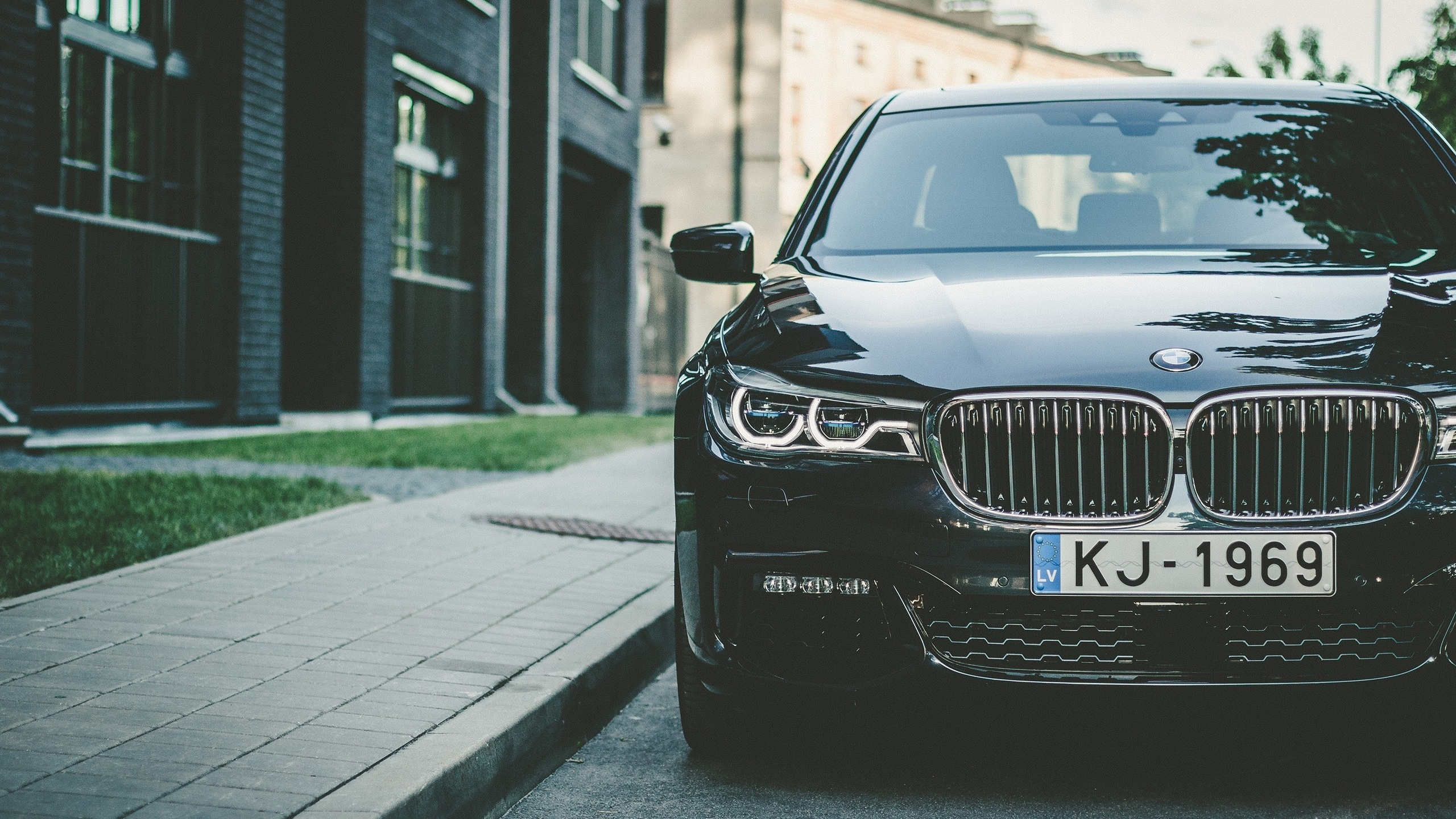 bmw, 7 series, улица, дома