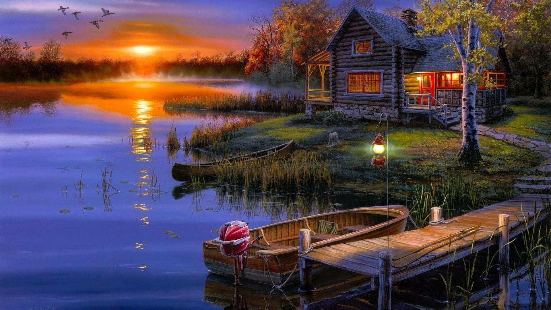 Картинка про вечер, открытки