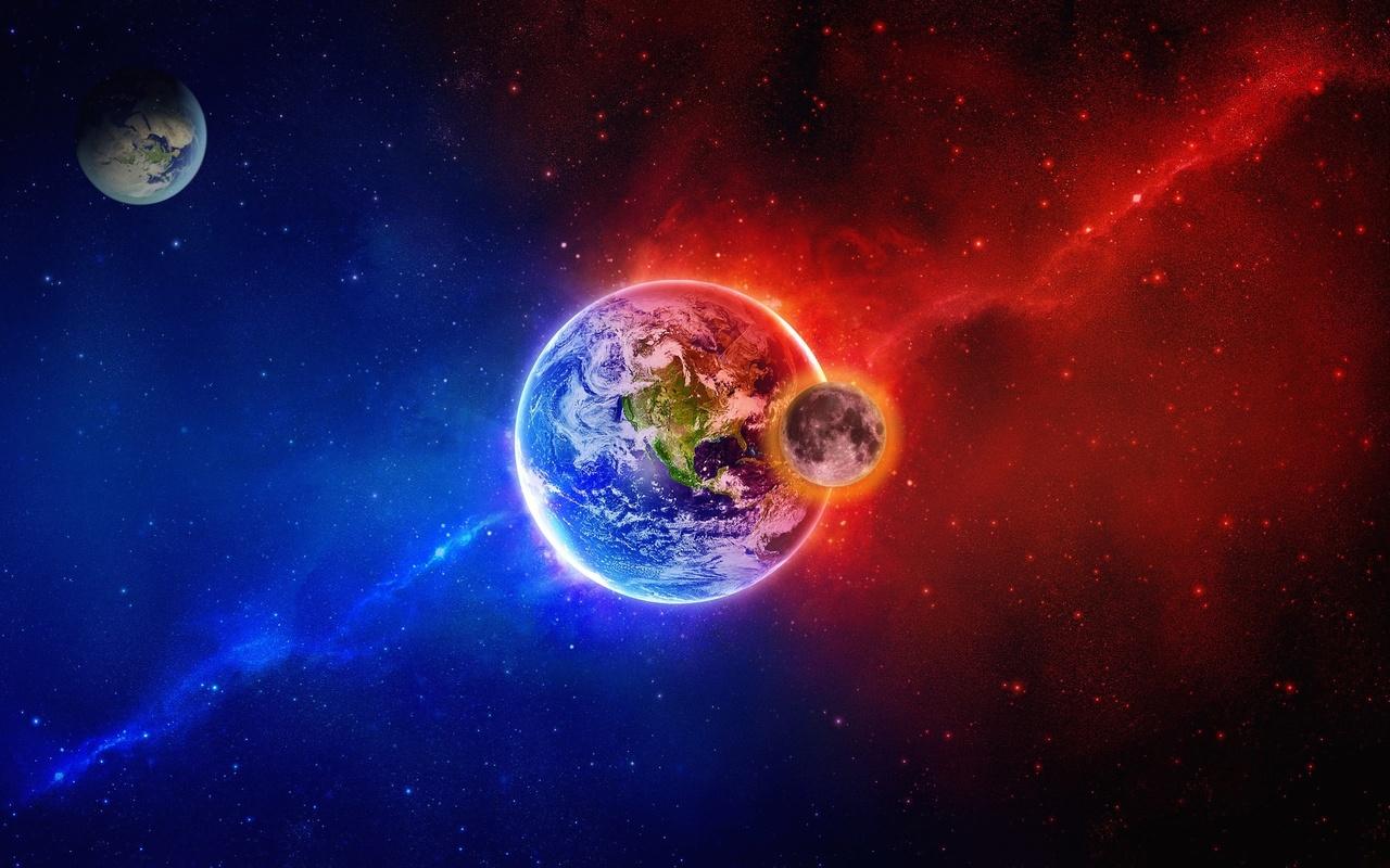 космическая, фантазия, планеты