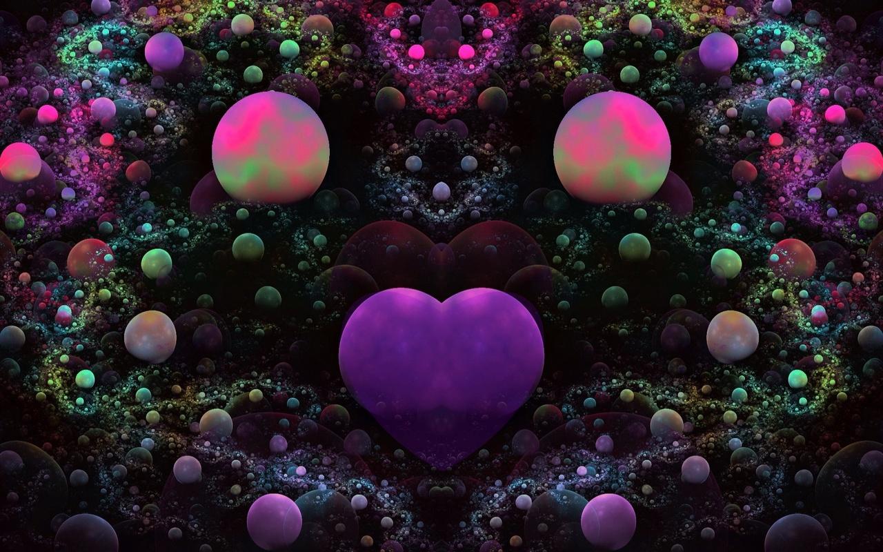 фантазия, обои, сердце