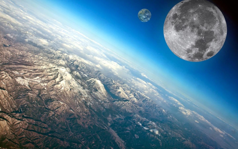 планеты, космос, фантазия