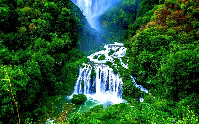 водопад, природа, национальный парк, джунгли, тропический лес, barron falls, ландшафт