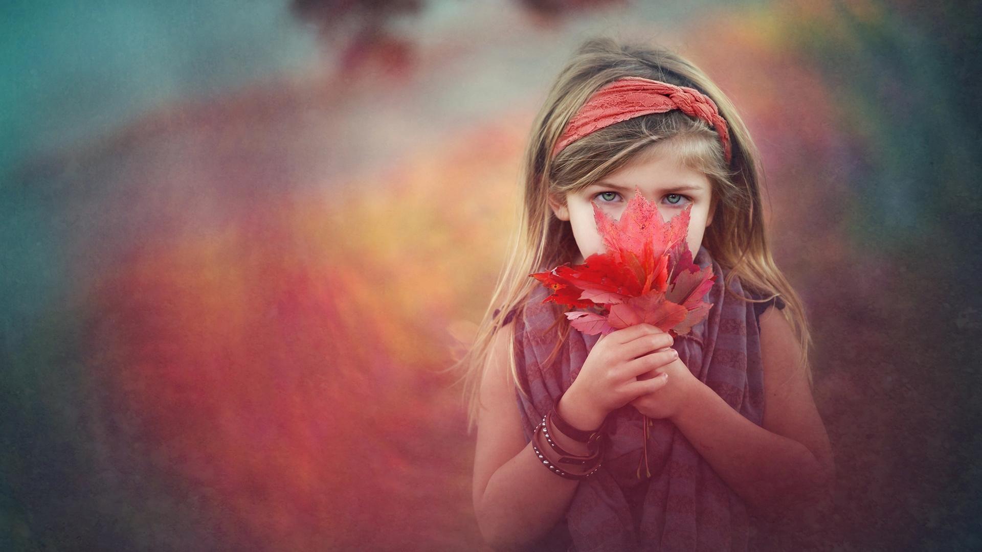 heather smith, ребёнок, девочка, шарф, браслеты, листья, клён, осень