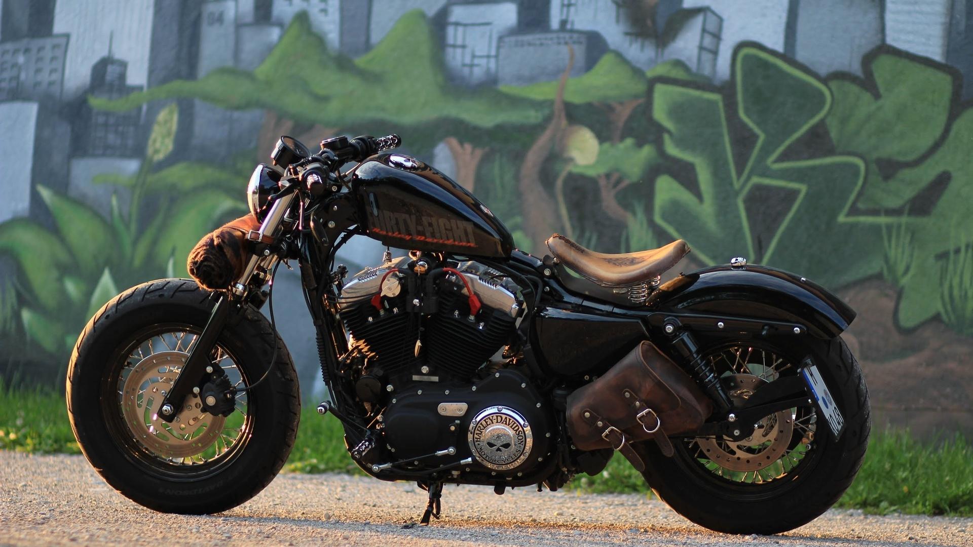 мотоцикл, граффити