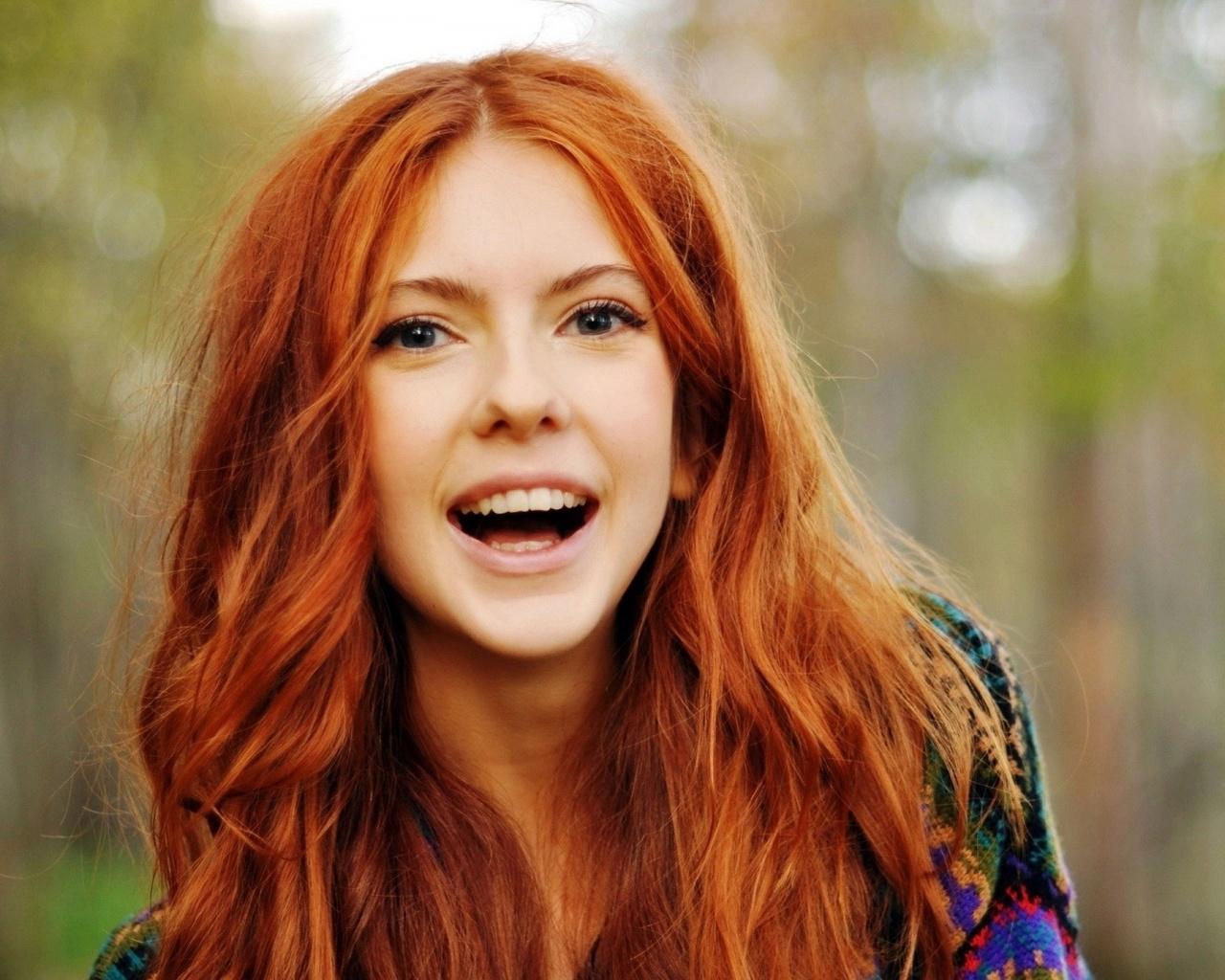 девушка рыжеволосая красивая