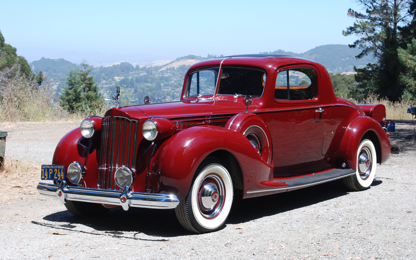 packard, ретро, 1939, coupe, бордовый