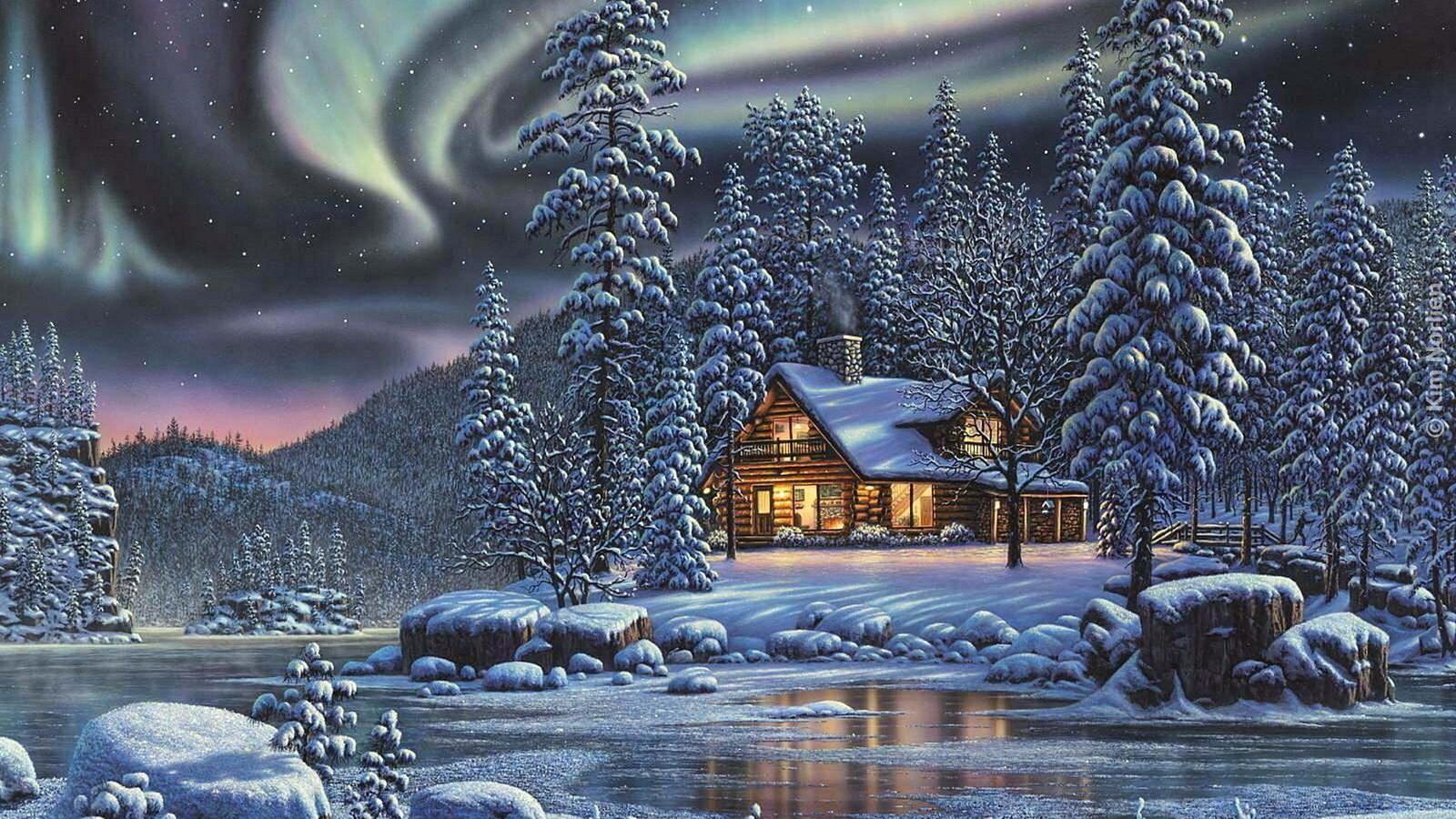 Открытки с зимним вечером и с зимним