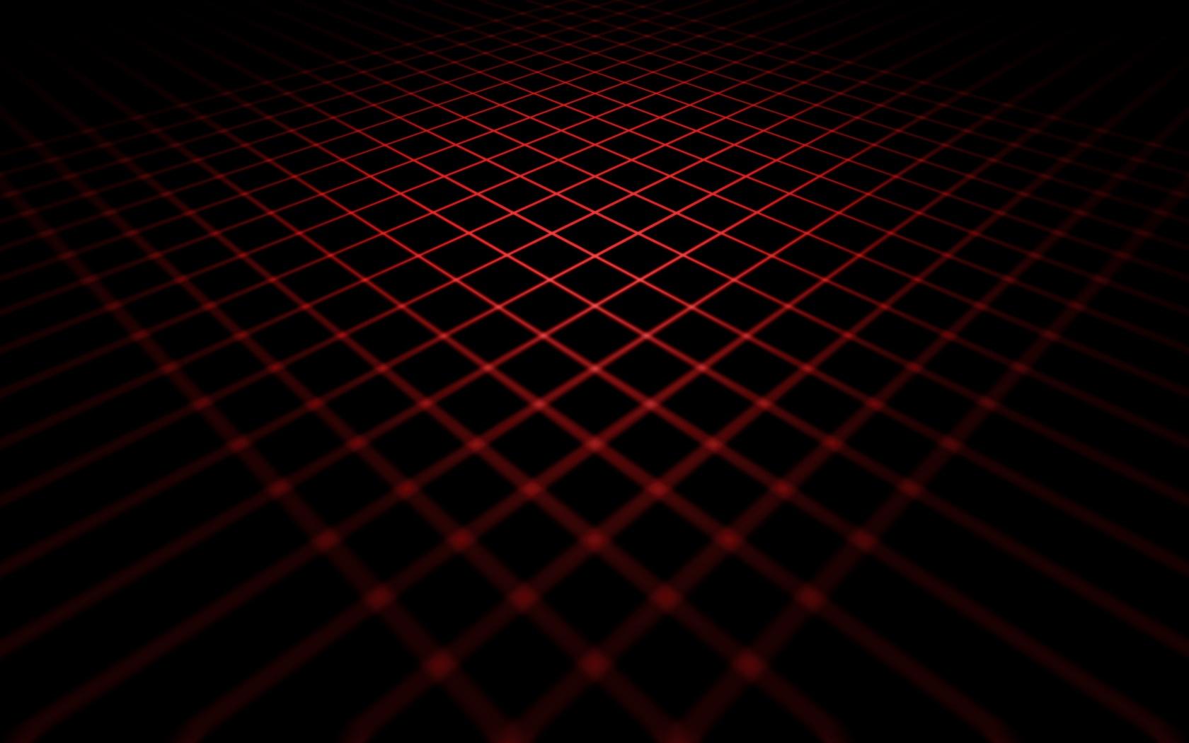 красные, линии, 3d