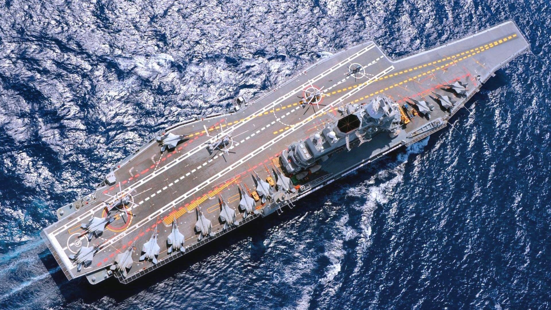 indias second aircraft carrier - HD1680×1050