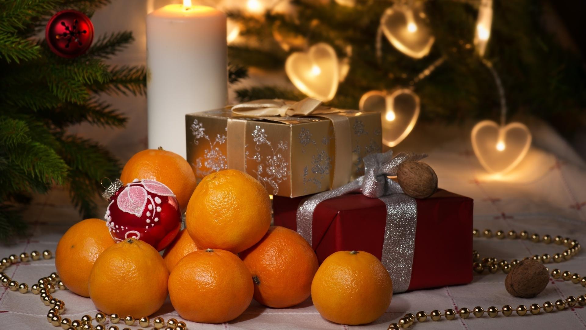 Открытка с мандаринами новогодняя, бисера для мамы