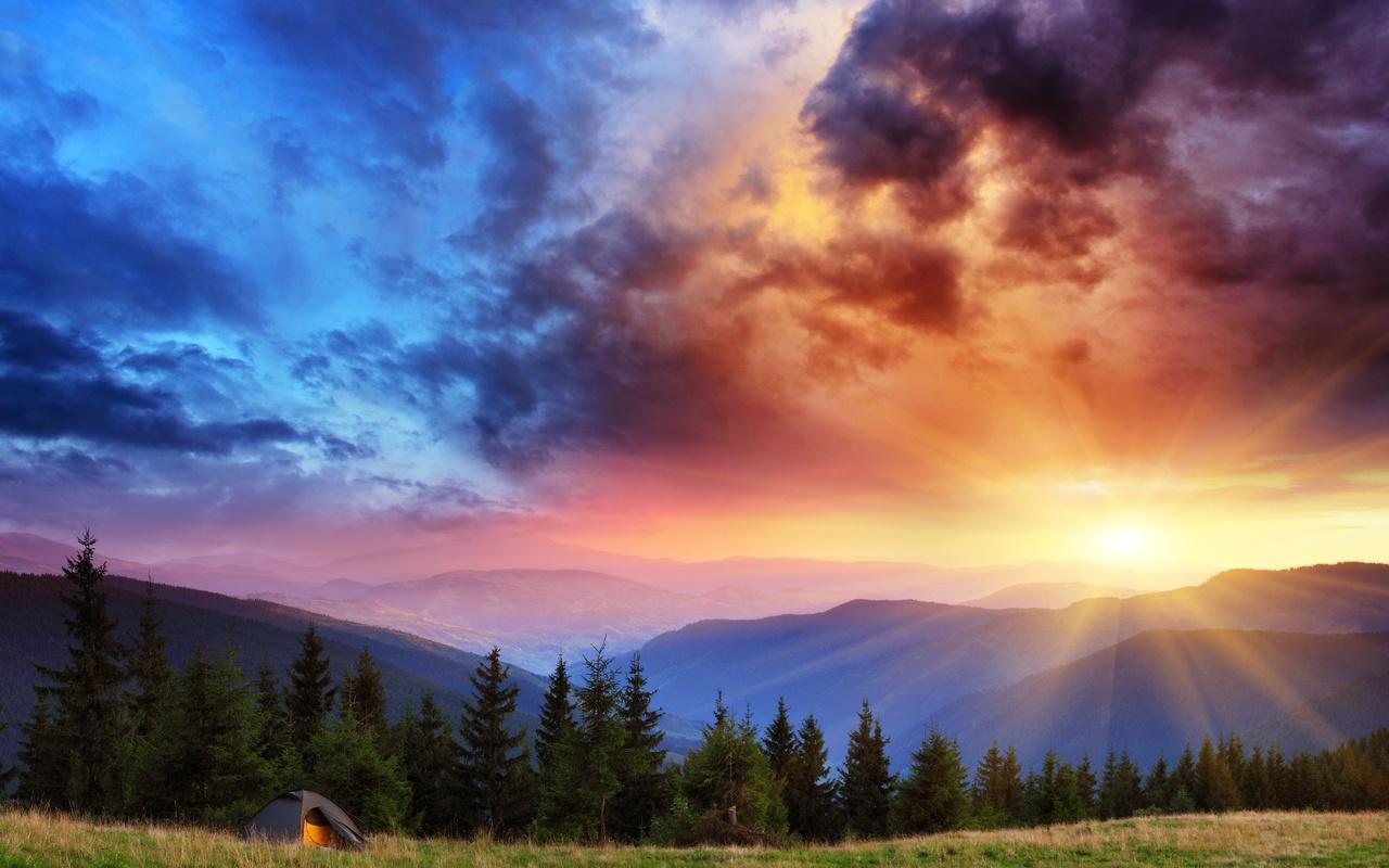 Открытки, восход солнца веселые картинки
