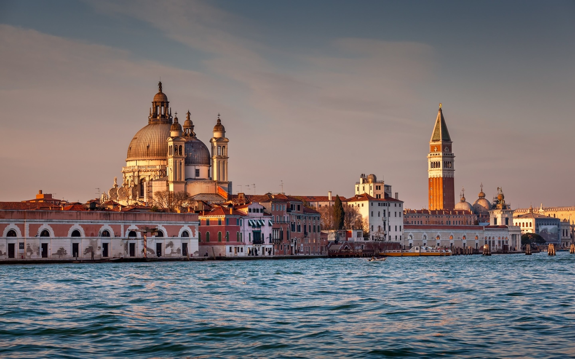 санта-мария-делла-салюте, венеция, италия, закат, гранд-канал, дорсодуро, барокко, туризм, достопримечательности венеции