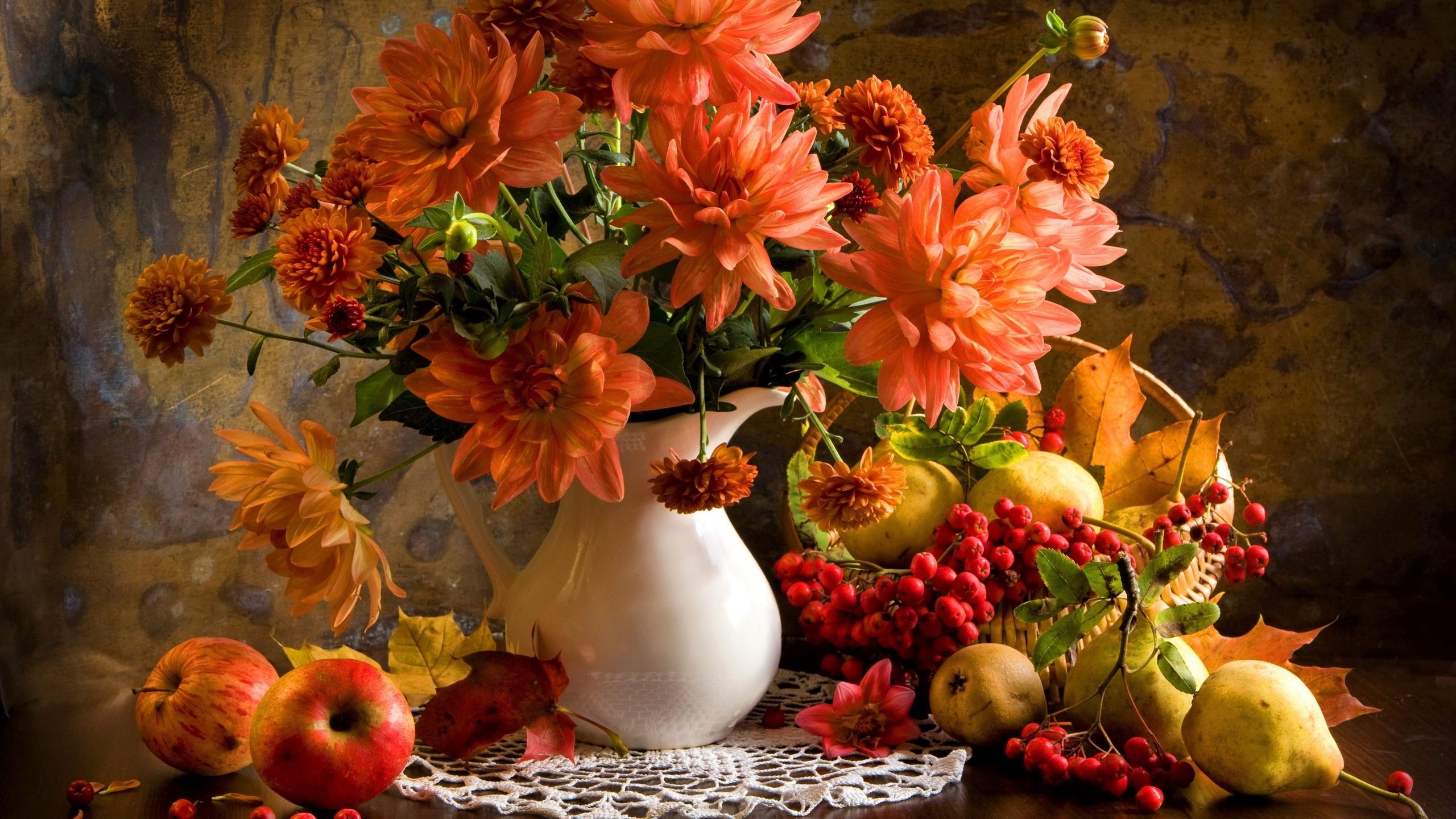 Картинки букет осенних цветов в красках