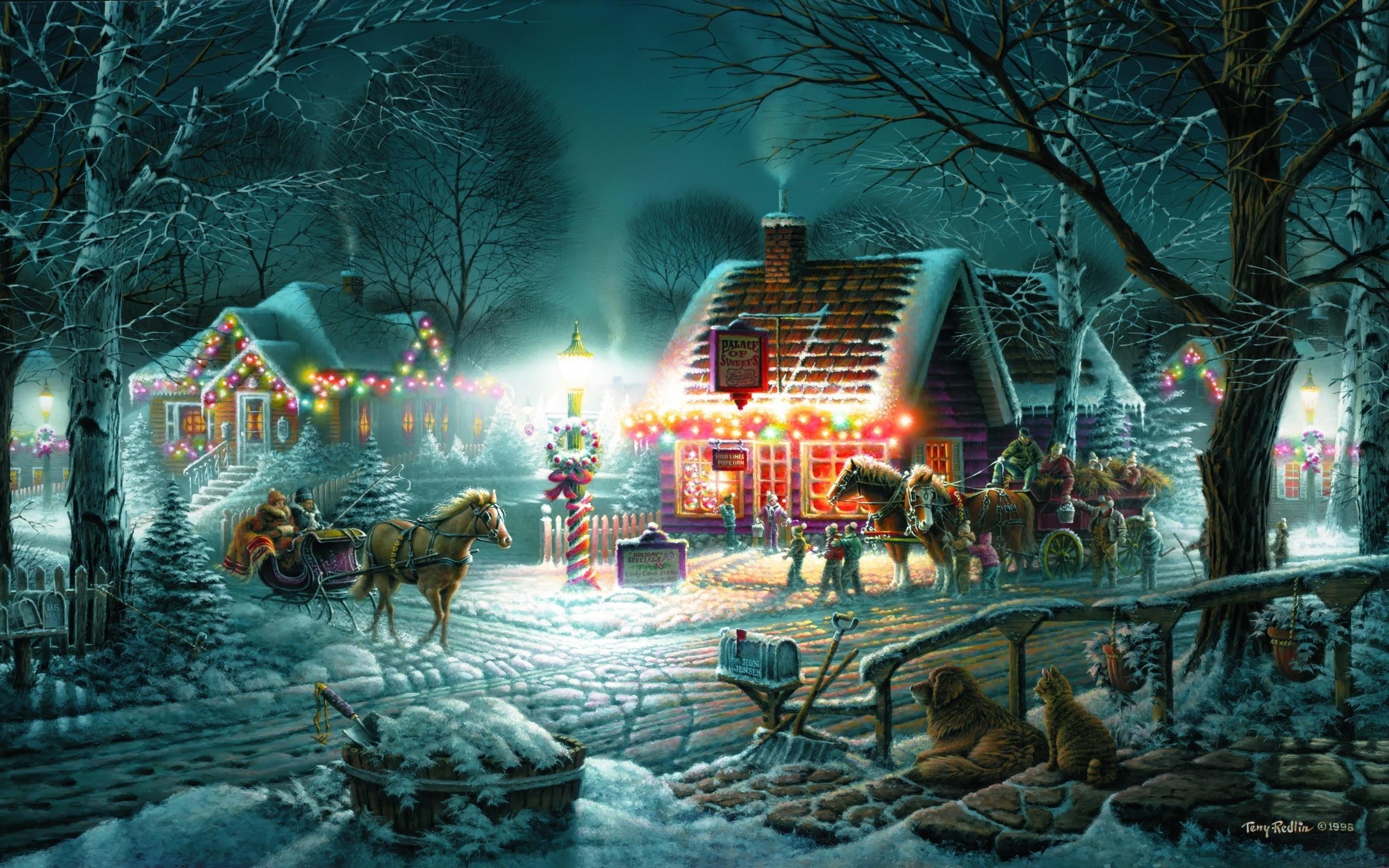 Картины с новым годом фото