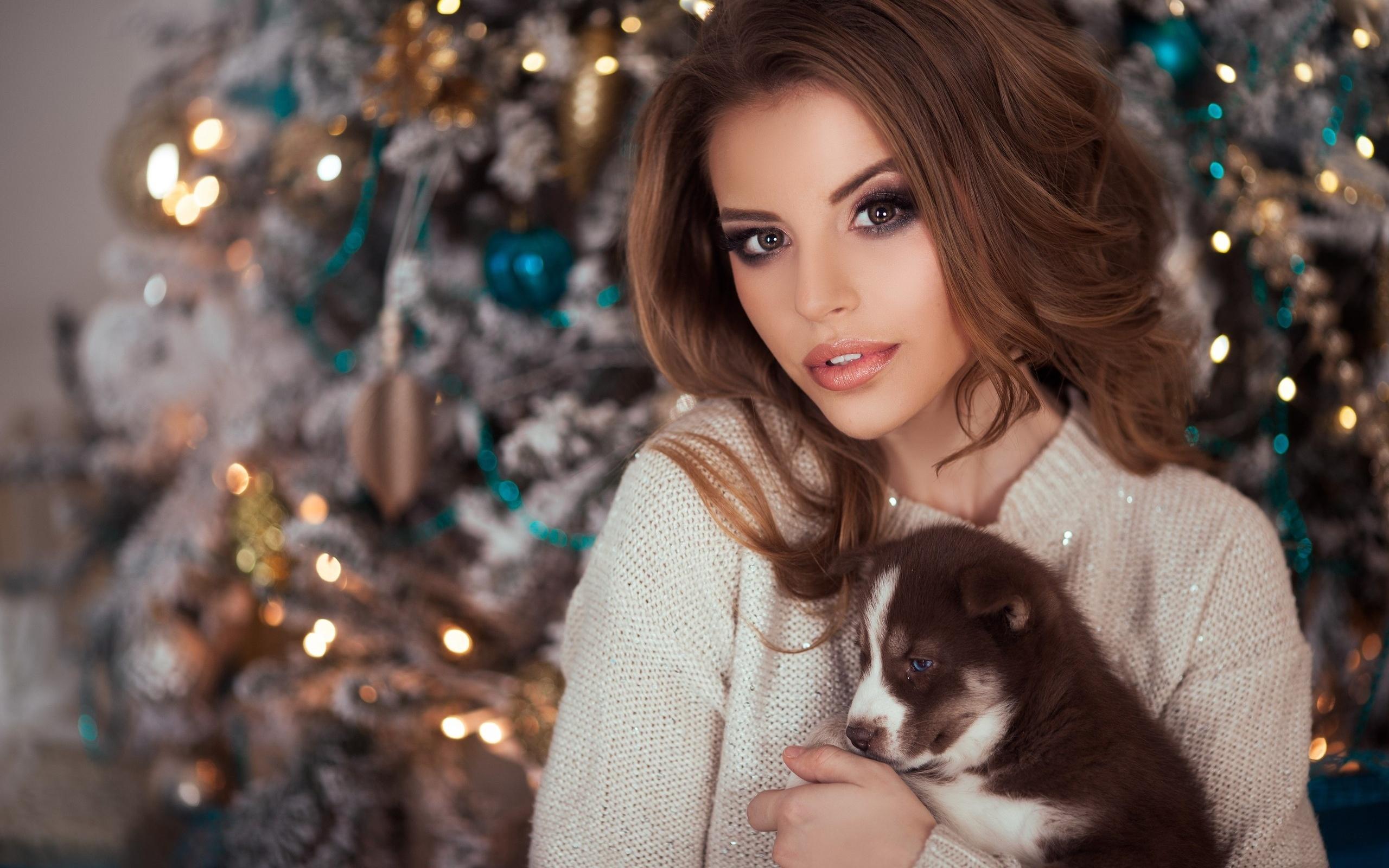 Новый год фото девушки