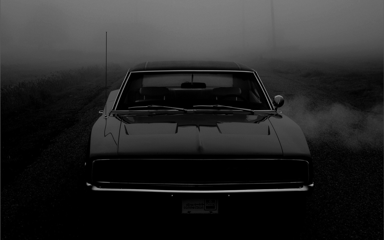 додж, 1968, charger, ретро, суперкар