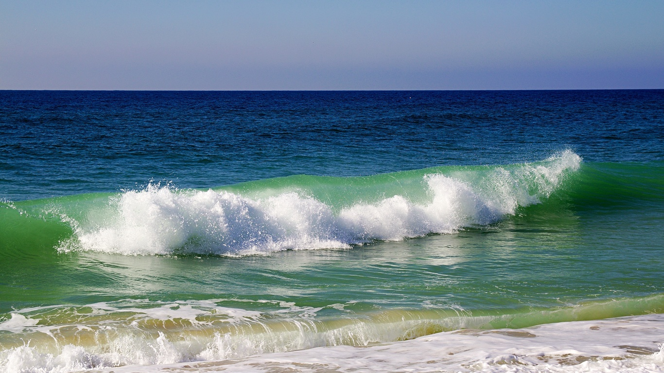 море, волны, прибой, португалия