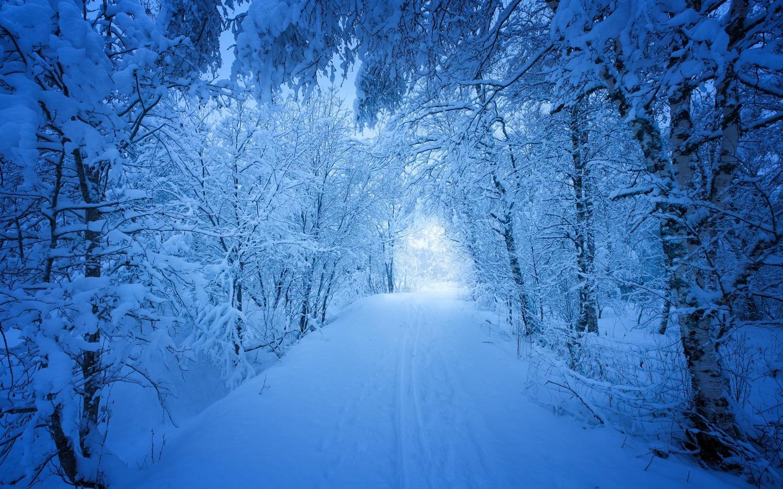 зима, снег, дорога, красиво, норвегия