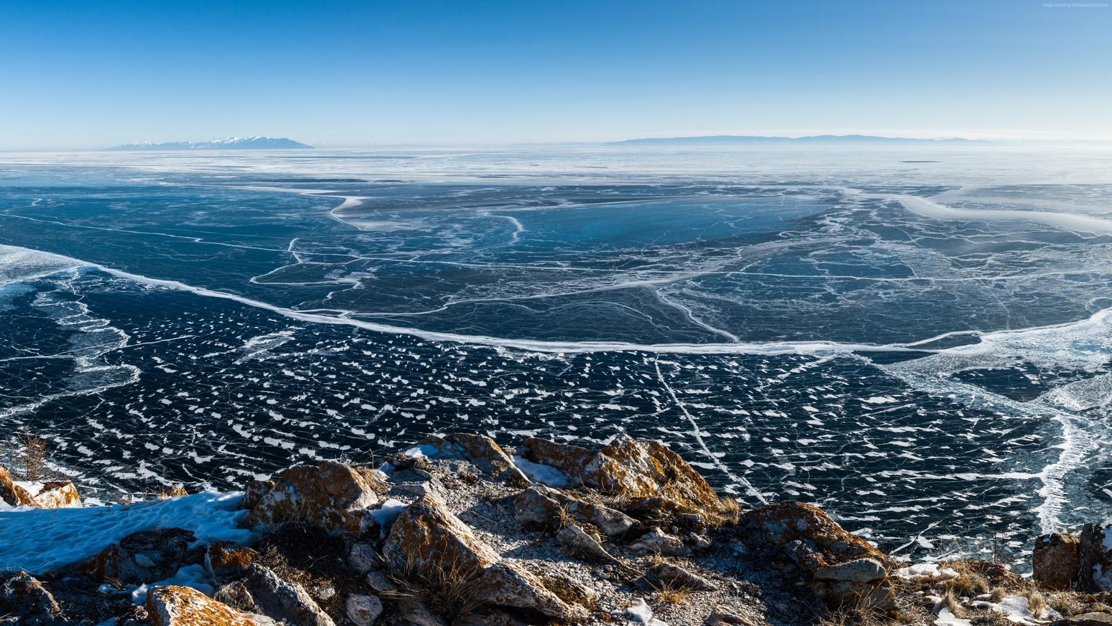 озеро, байкал, лед, lake, baikal, ice, природа