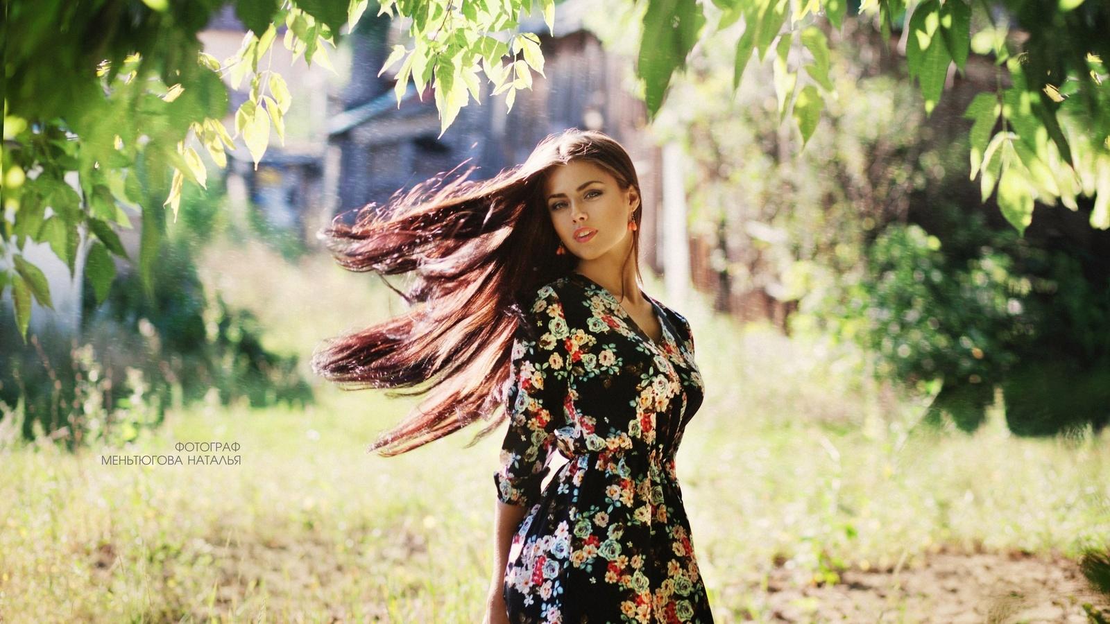 девушка, длинные волосы, на природе, фотограф, наталья меньтюгова
