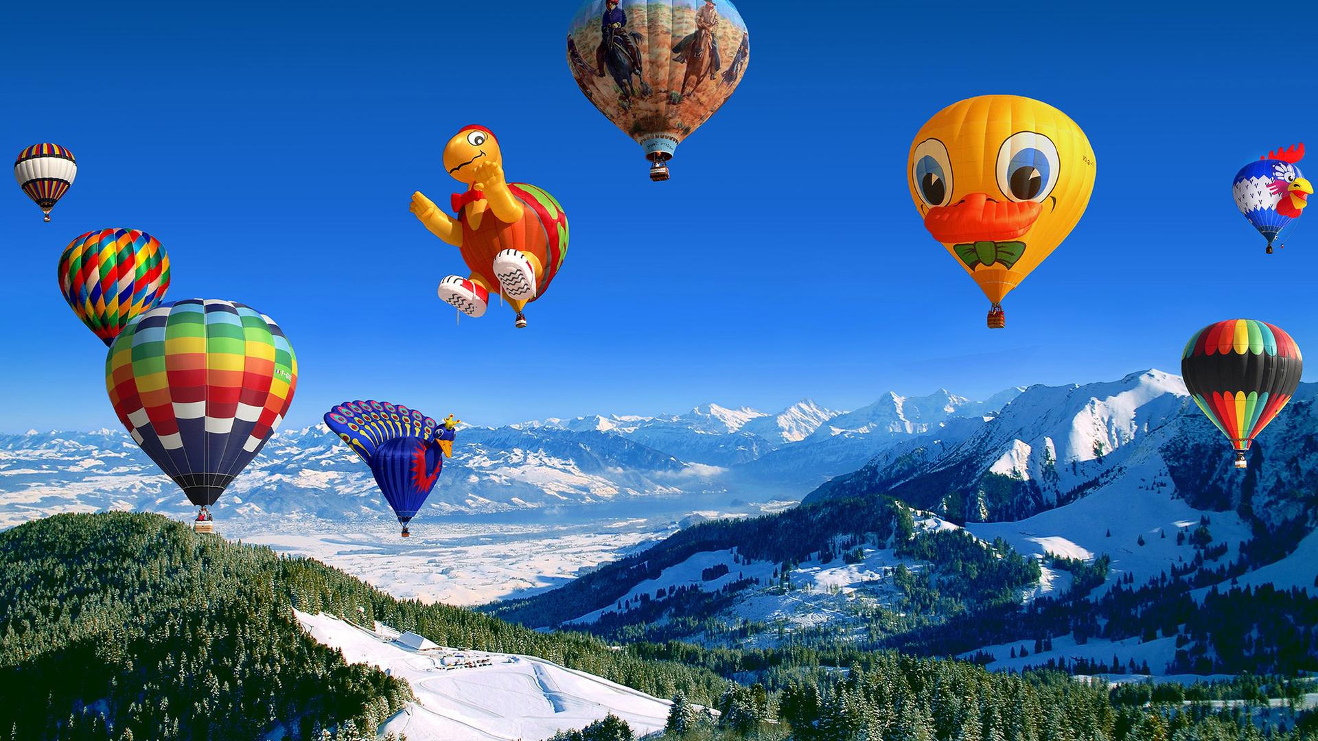 картинка с летающими шарами размеров