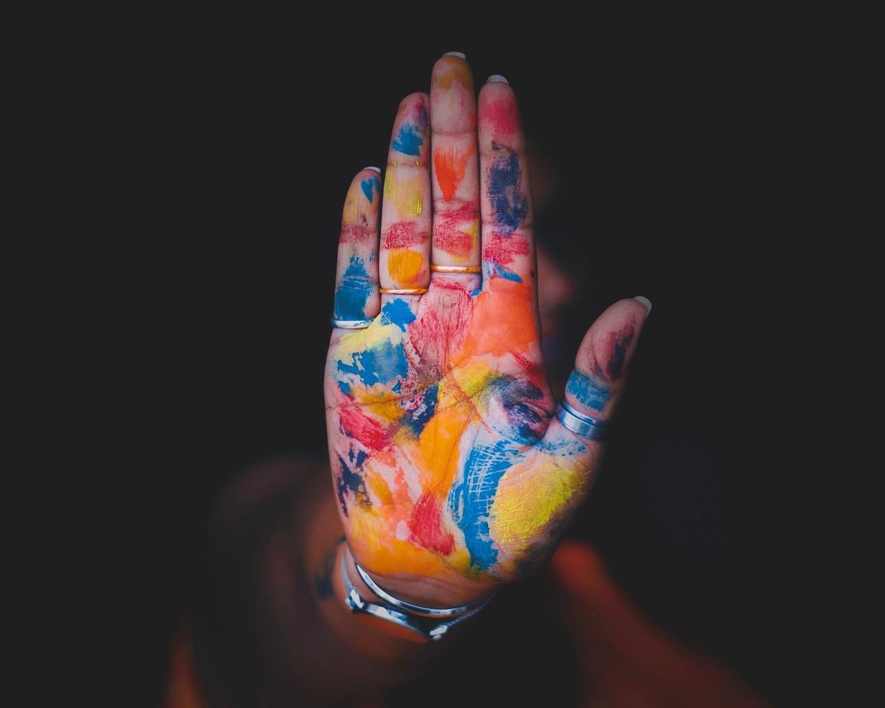 рука, предметы, краска, aashish r gautam