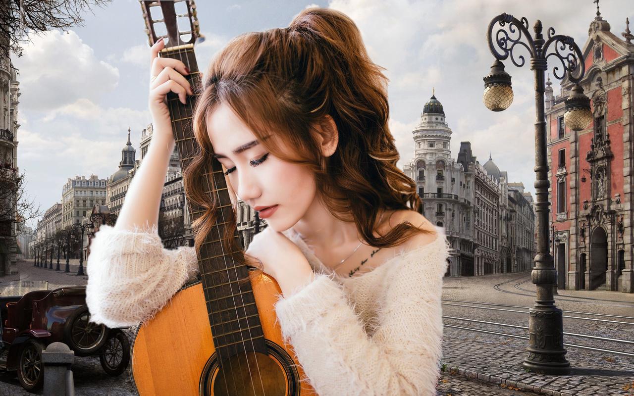 Осень и гитара картинки