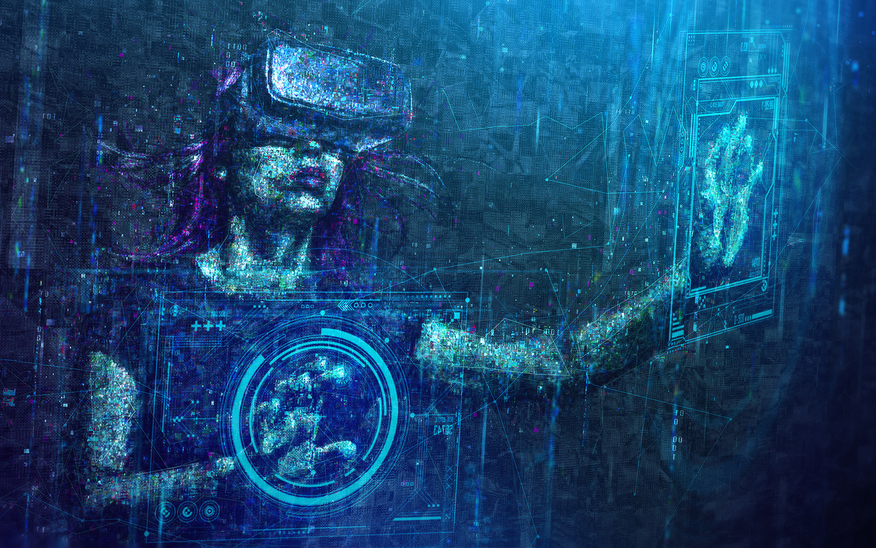 virtual reality, digital art, цифры