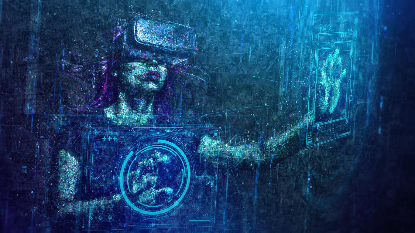 virtual reality, digital art, цифры