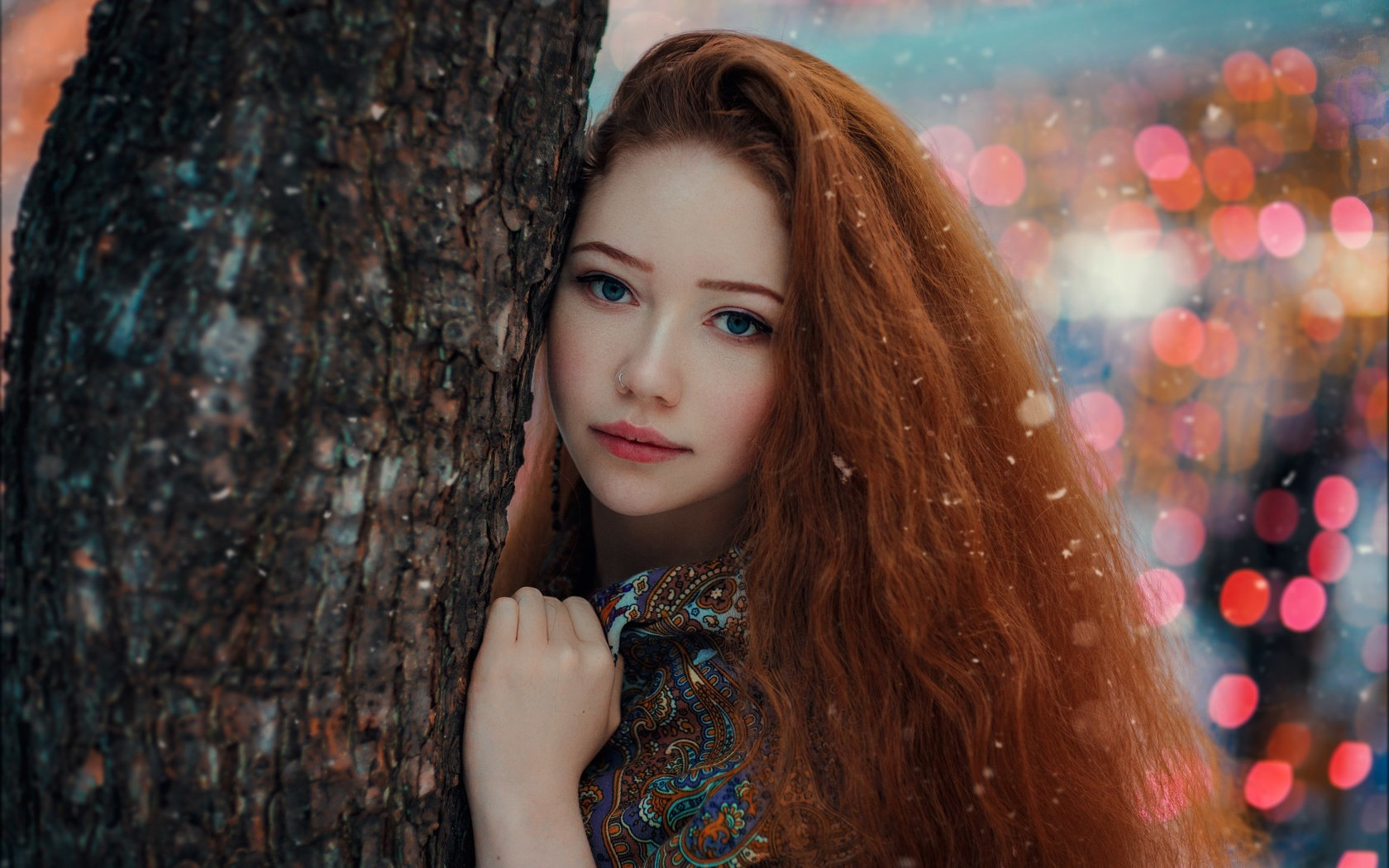 девушка, рыжая, длинные волосы, автор, хакан эренлер, erenler photo