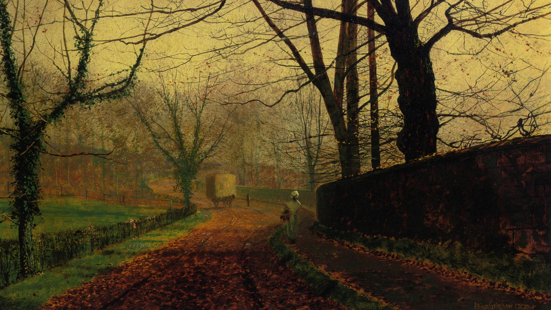 john atkinson grimshaw, картина, арт