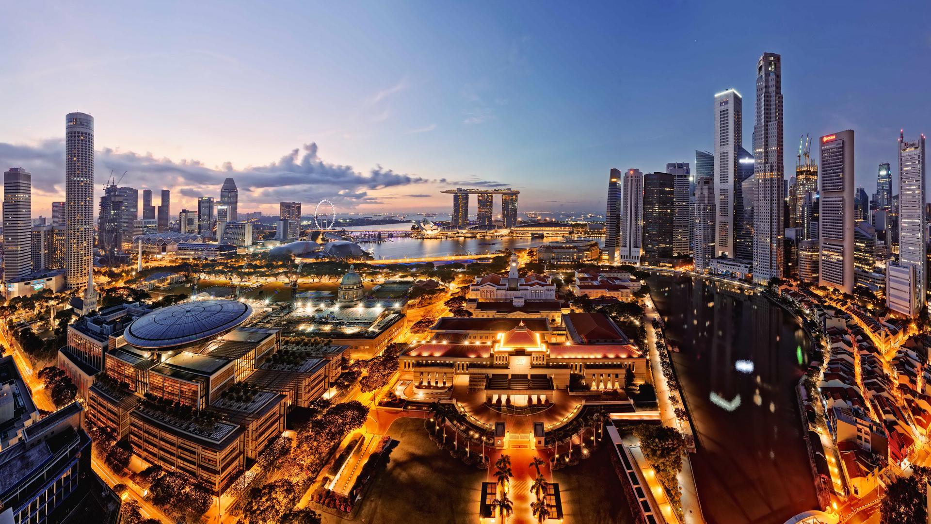 сингапур, панорама