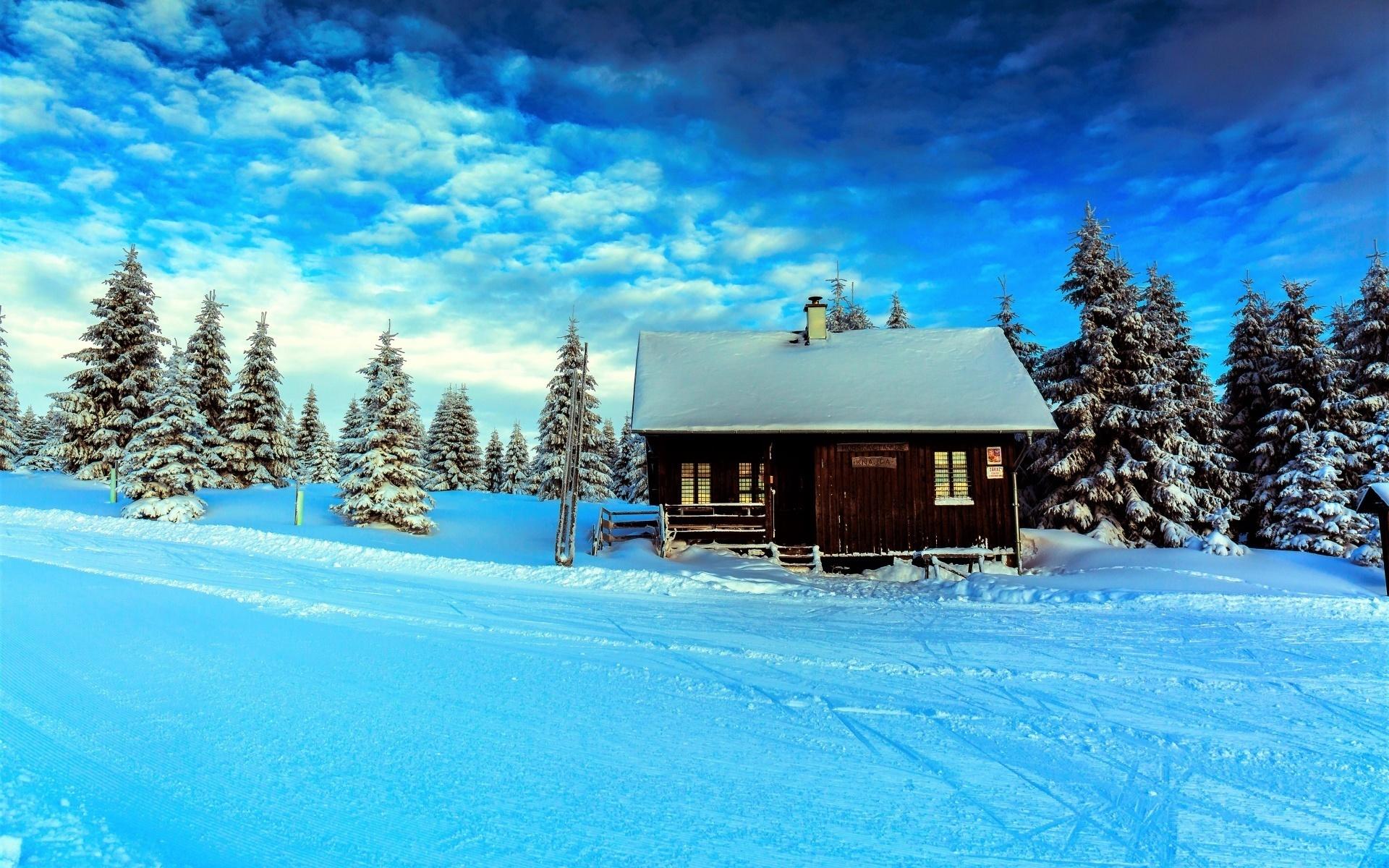 Открытки зимний пейзаж на рабочий стол, день