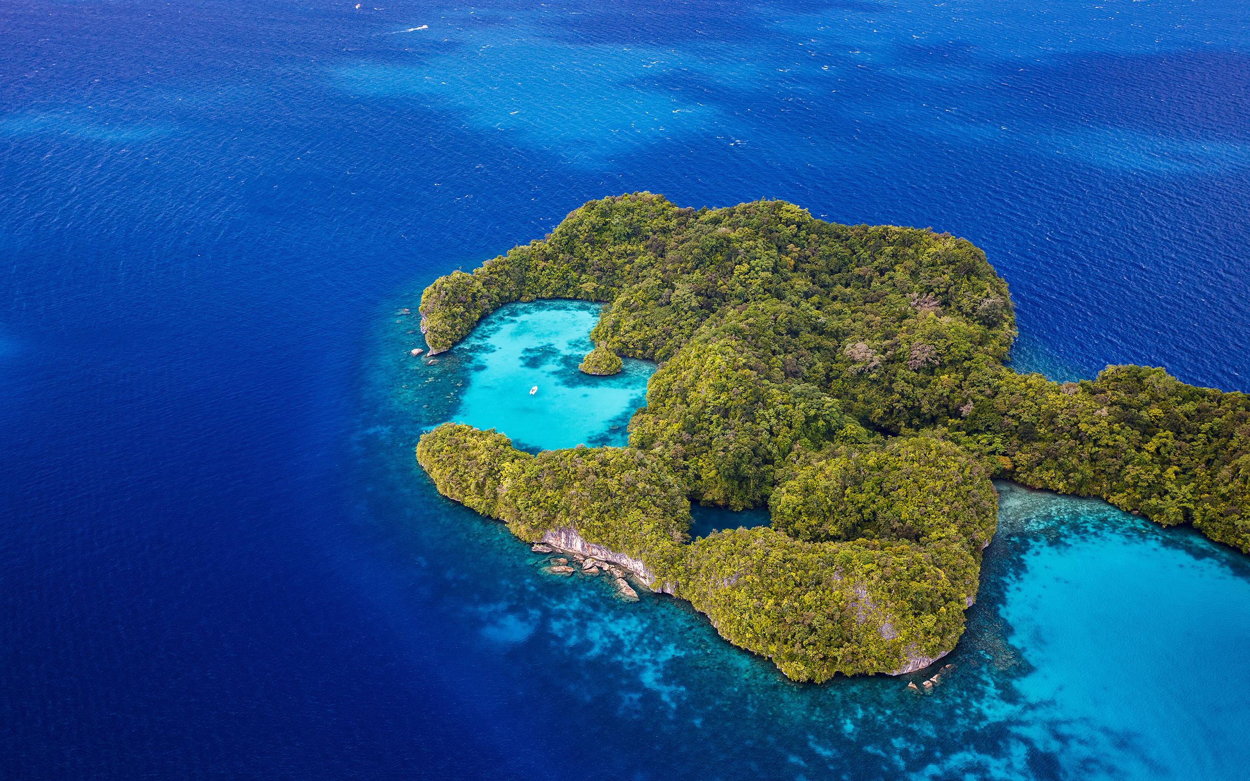 тропики, море, остров, природа, лагуна
