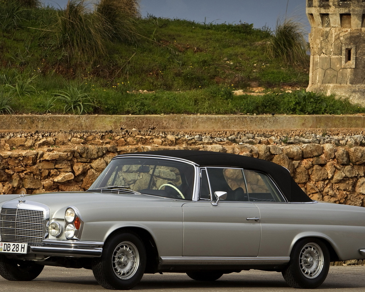 mercedes benc, 280se, cabriolet, 1968
