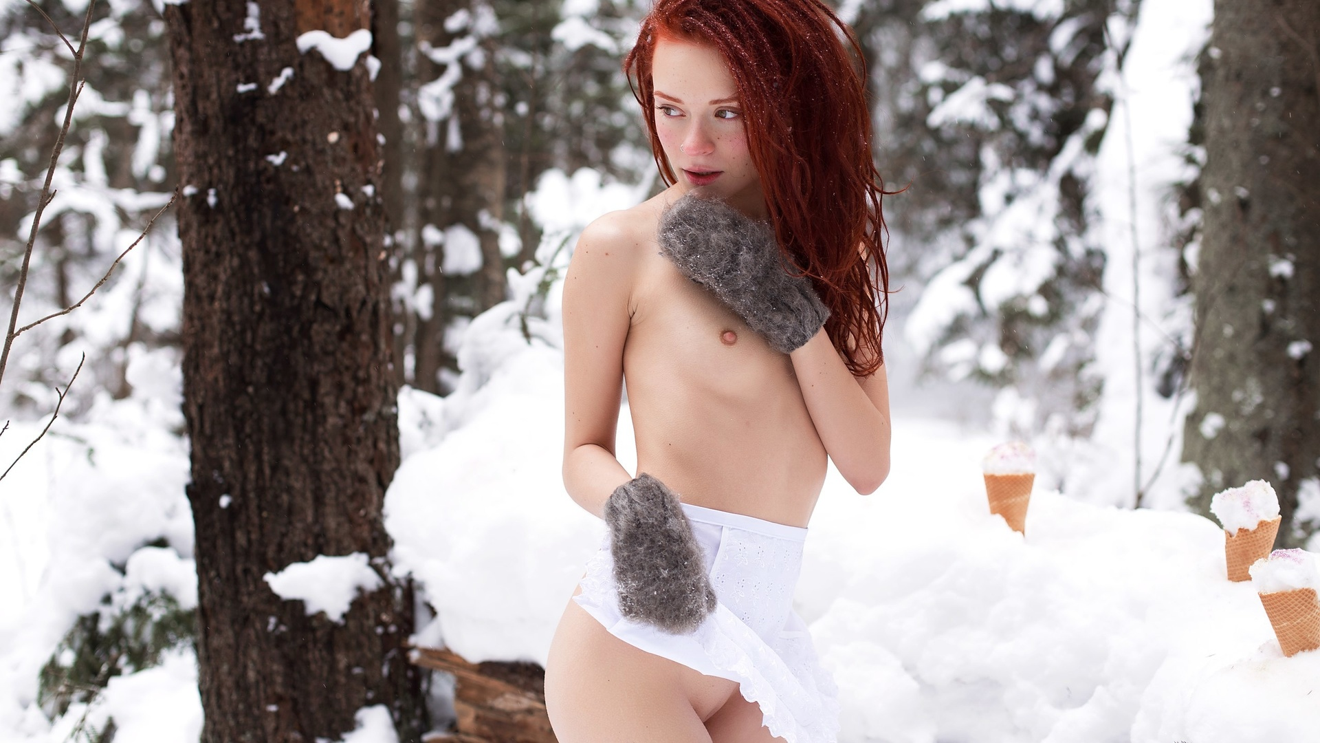 обои зимние порно