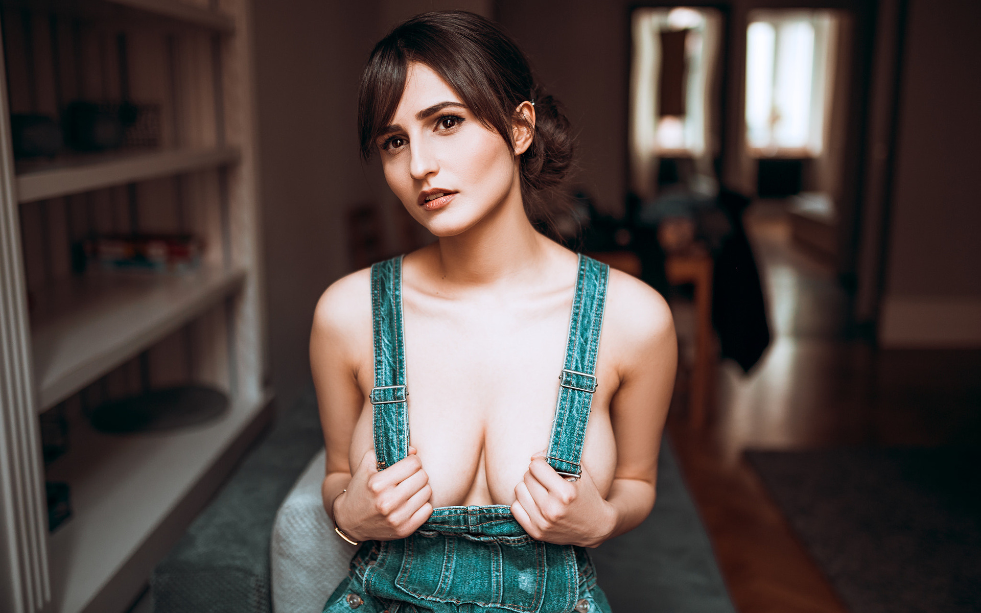 Naked young girls in bibbed overalls domination porn pics