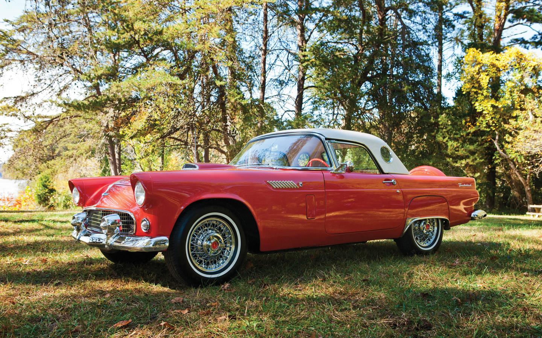 ford, 1956, thunderbird, ретро