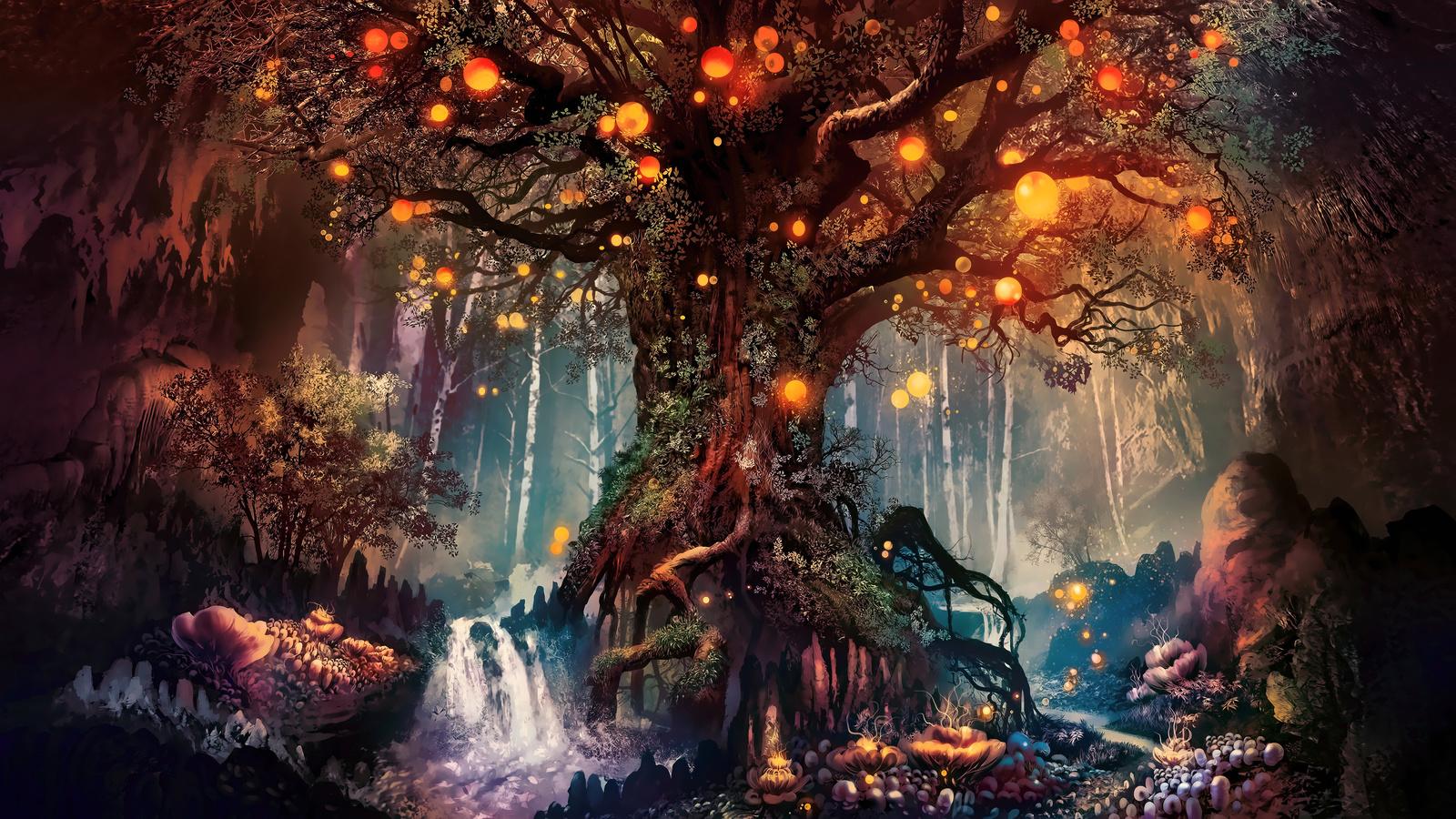 Сказочный лес открытка, открыток сладостями
