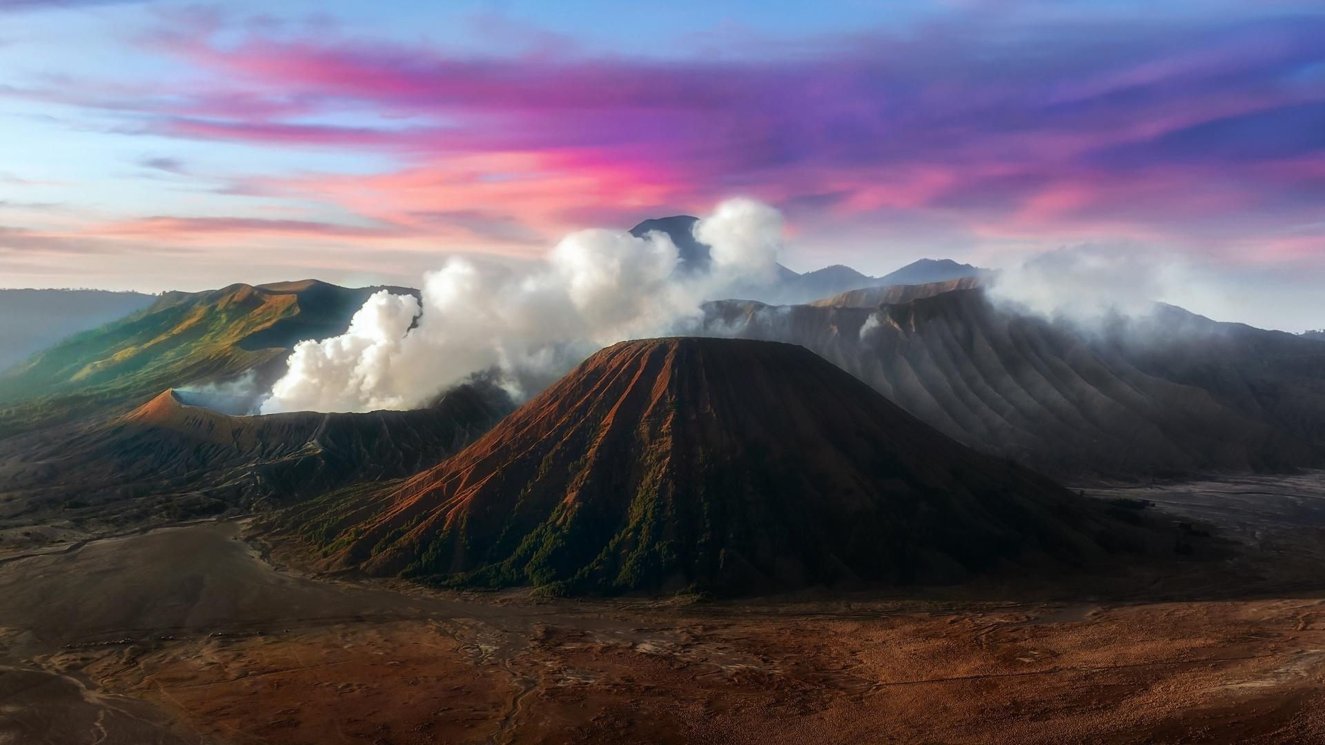 онлайн гора вулкан