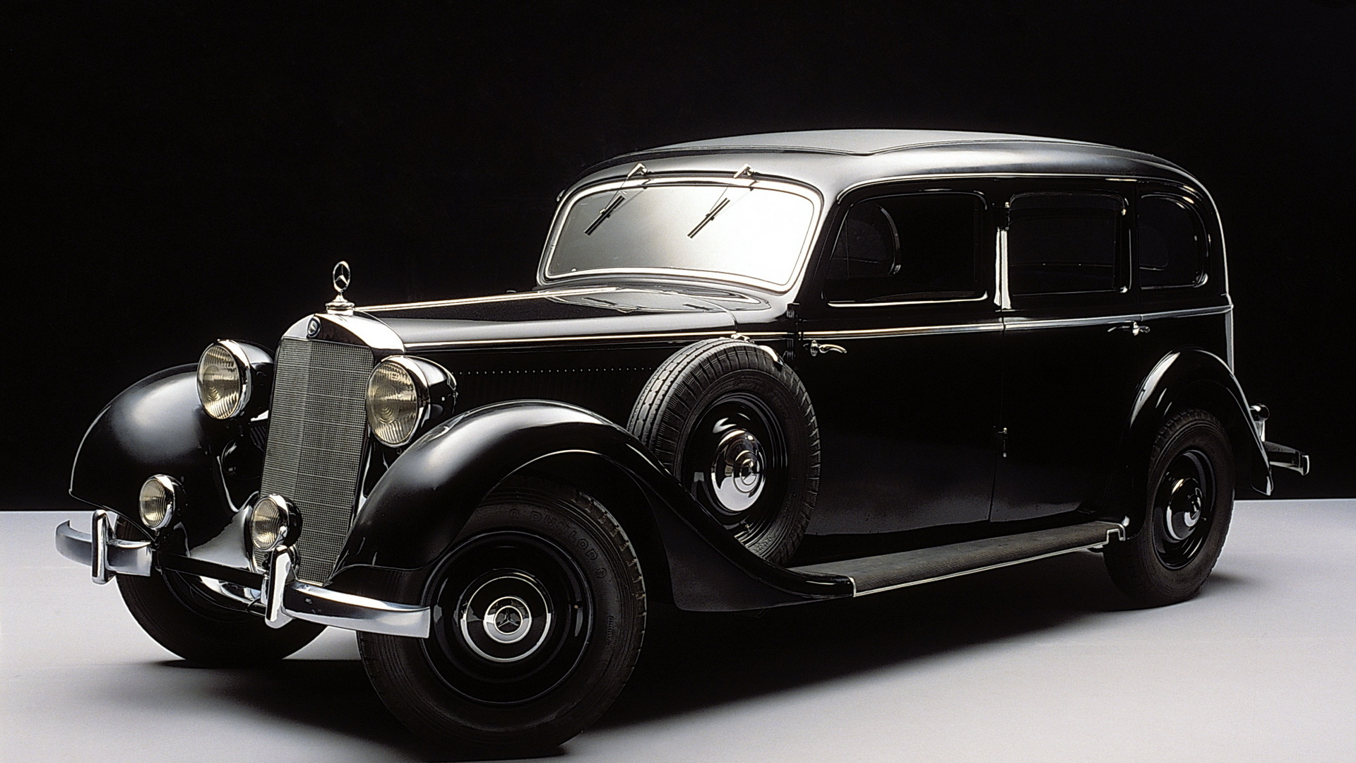 мерседес, чёрный, ретро, 1936
