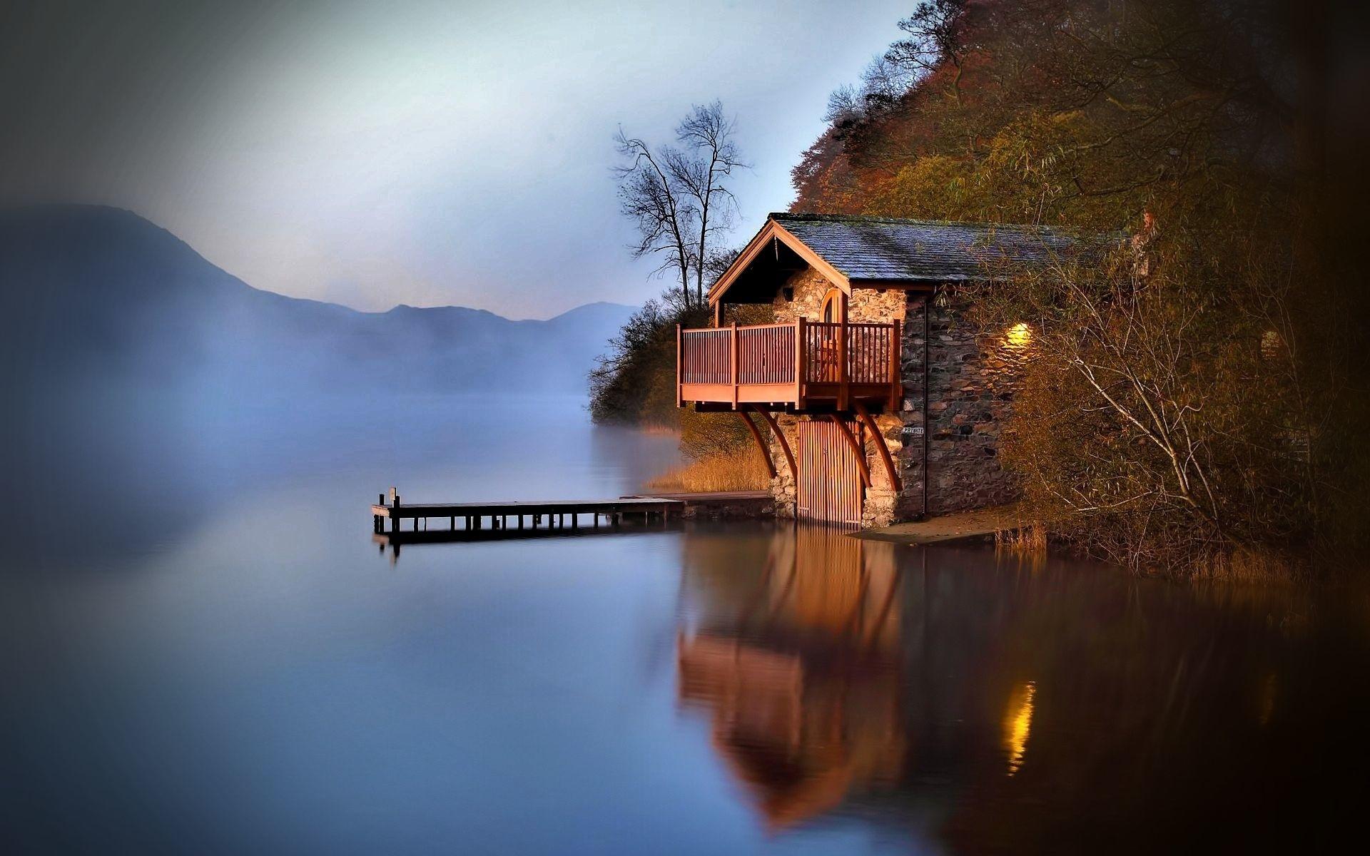 Дом у озера картинки красивые, открытка фотографий