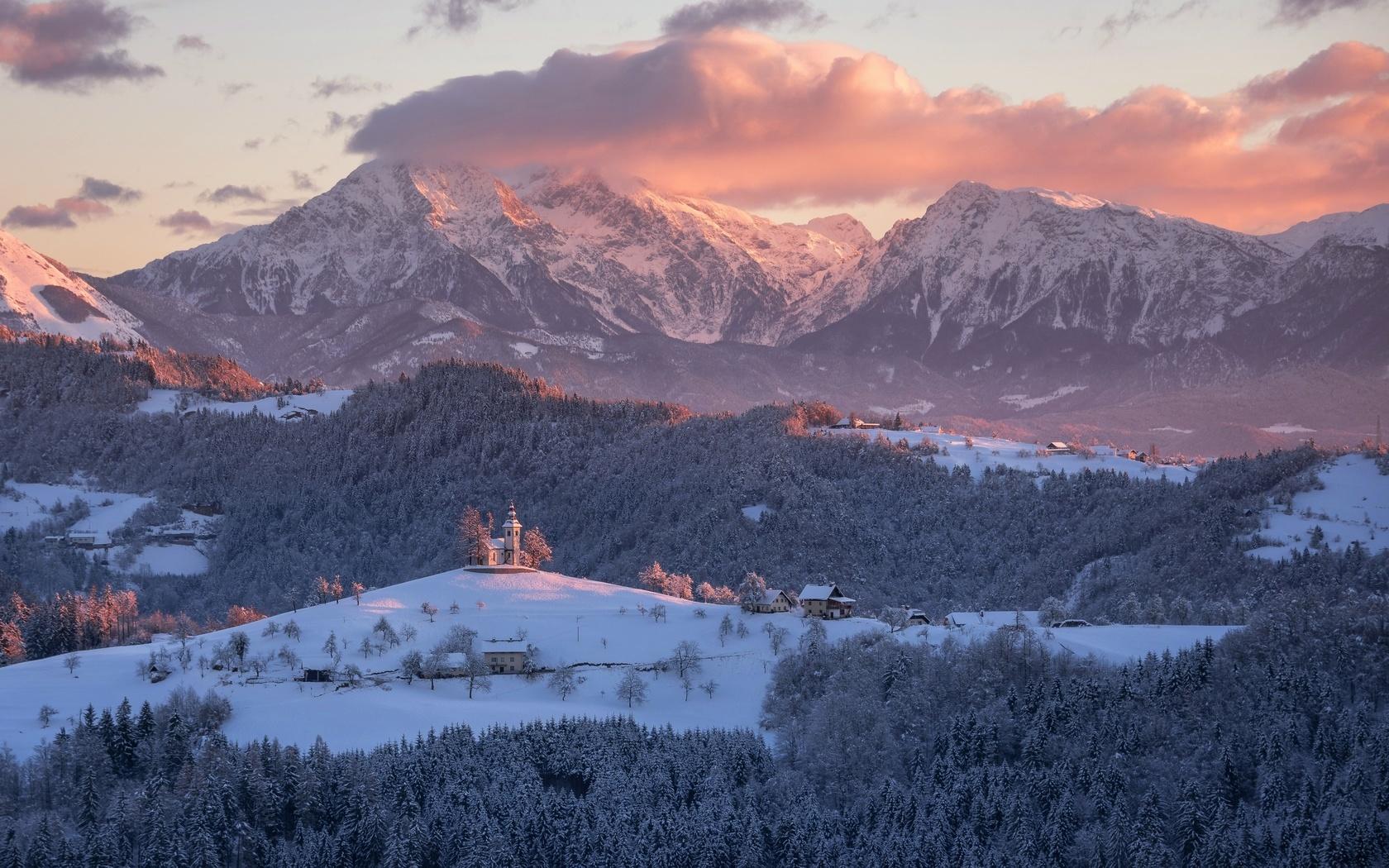 Альпы картинки зима