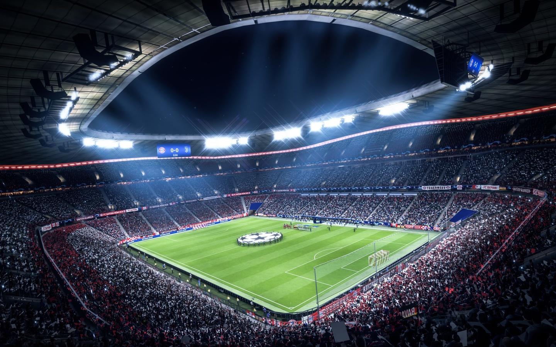 стадион, игра, футбол