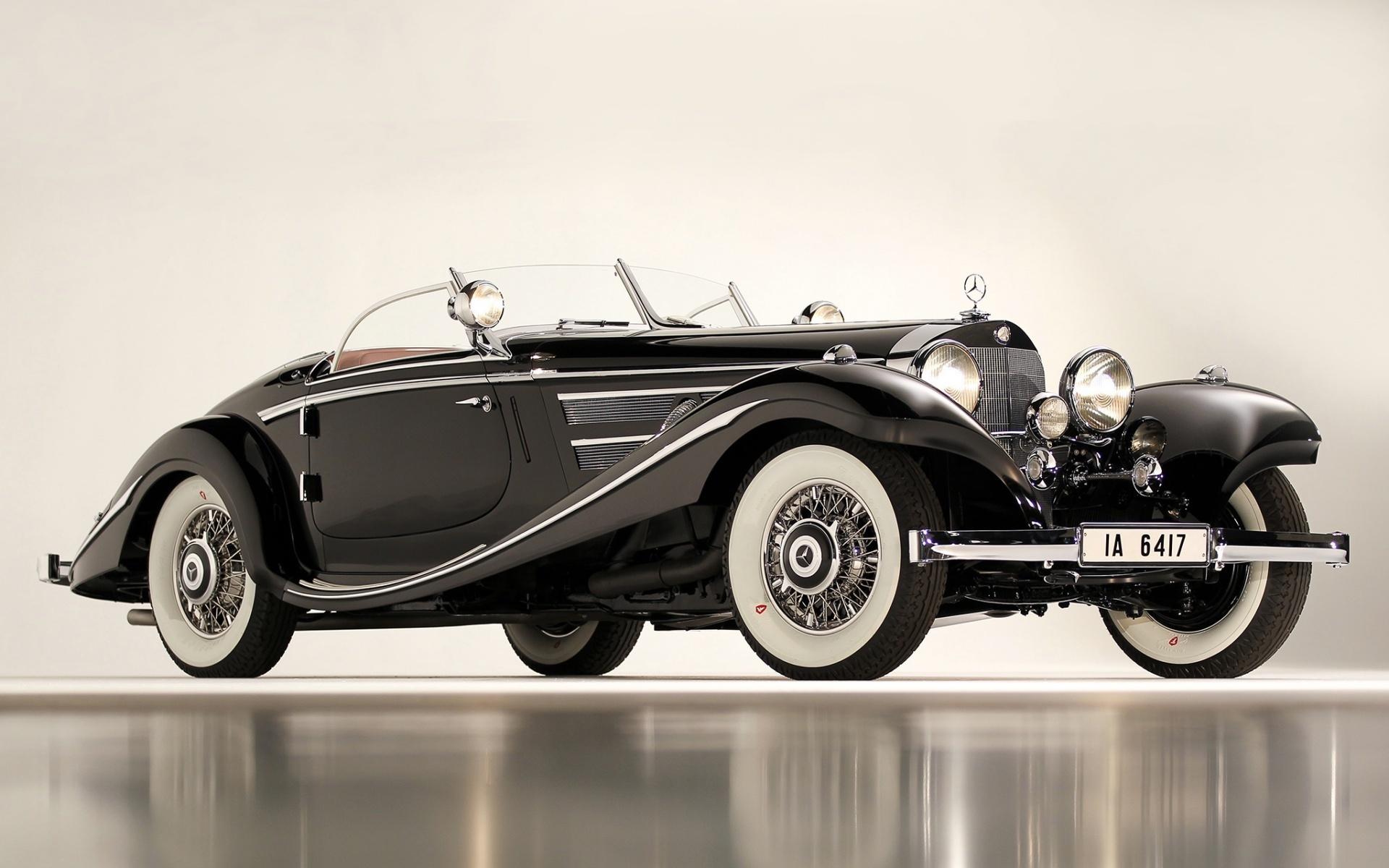 мерседес, 540к, ретро, 1936