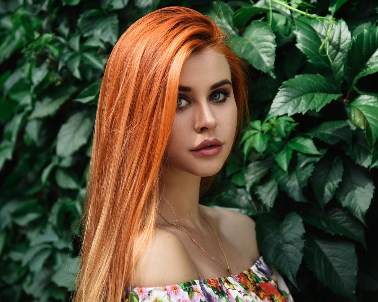 dana bounty, women, redhead, portrait, dress, bare shoulders, women outdoors, long hair, https://www.nastol.com.ua/peoples/299818-devushka-ryzhaya-model-vzglyad-dana-bounty.html, анастасия шеина ,anastasiya sheina
