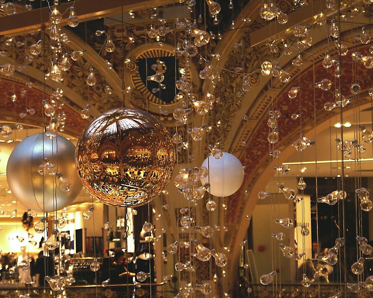 украшения, интерьер, рождество, новый год
